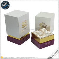 Satin Wrapped Inlay 2 Pieces Tall Bottle Cardboard Perfume Gift Box