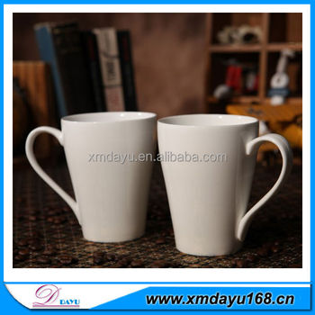 Wholesale Cheap Ceramic Coffee Mug Plain White Porcelain