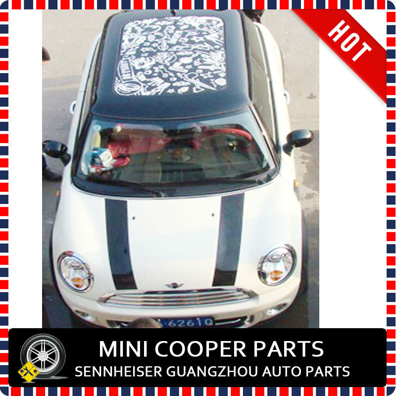 Brand New 3M Material The Soviet union Style Sunroof sticker for mini cooper R55 R56 R60 R61 F55 F56 car window sticker