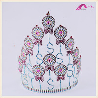 New Luxury Oversize Rhinestone Bridal Tiara Wedding Hair Accessories Crystal Pageant Crowns Wedding Tiaras and Crowns