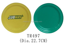 Wholesale logo printed 22.7cm plastic flying frisbee disc