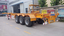 Produce 40ft three axle flatbed trailer for carrying container