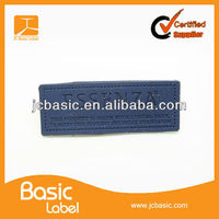 Customized embossed Leather patches for garment ,jeans