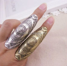 NS0827 hot sale western fashion women casual specil vintage long finger rings
