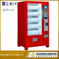 Dragonwin 3-in-1 automatic snack drinking gaming cabinets slot kids saeco reverse ice vending pure water&coffee machine