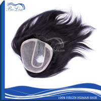 High quality indian remy human hair toupee wig for men