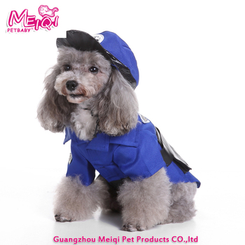 New policeman dog costume holiday fashion costume for pets