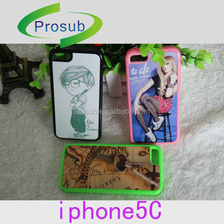 sublimation heat transfer PC+TPU material blank phone case for IP5C