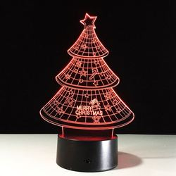 ZOGIFT 2018 New Arrival Creative Christmas Decoration 3D LED Night Light Christmas Tree Night Light Decoration Touch Light