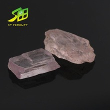 factory sale natural pink color rough morganite loose stone