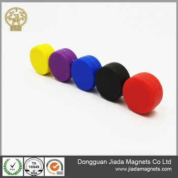 Colorful Plastic Coated Magnetic Button