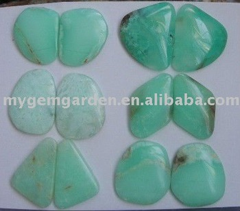 Chrysoprase Earring Cabochon Pairs