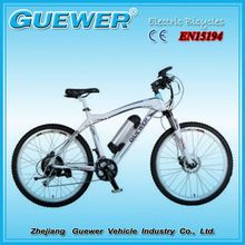 GUEWER 2016 new design electric mountain bike hot selling EEC certificated