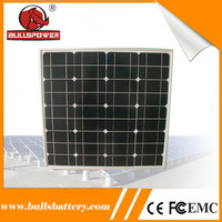 Stable power output 50w thin film pv monocrystalline panel from solar panel manufacturer