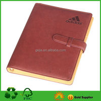 A5 PU cover loose leaf diary book with stone paper