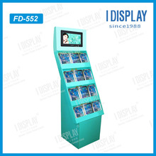 customized fashion glossy lamination cardboard hair salon display shelf