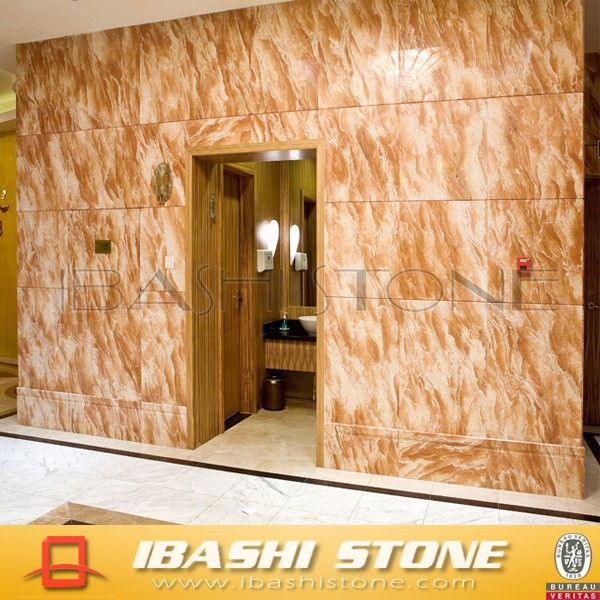 Tea rose yellow Orange color marble wall tile price