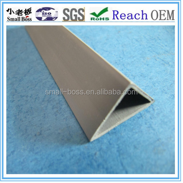 Popular pvc chamfer profile/ plastic chamfer without edge for wall protect