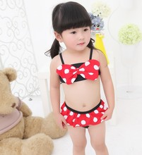 2016 new arrival of high quality and waterproof girls swimsuit Tankinis girl swimming wear swimsuits with Bowknot SW239