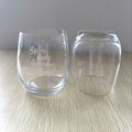 engraved crystal whisky glass