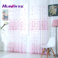 fashion butterfly design beautiful sheer curtains