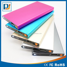 ultrathin flat portable mobile power bank with led torch