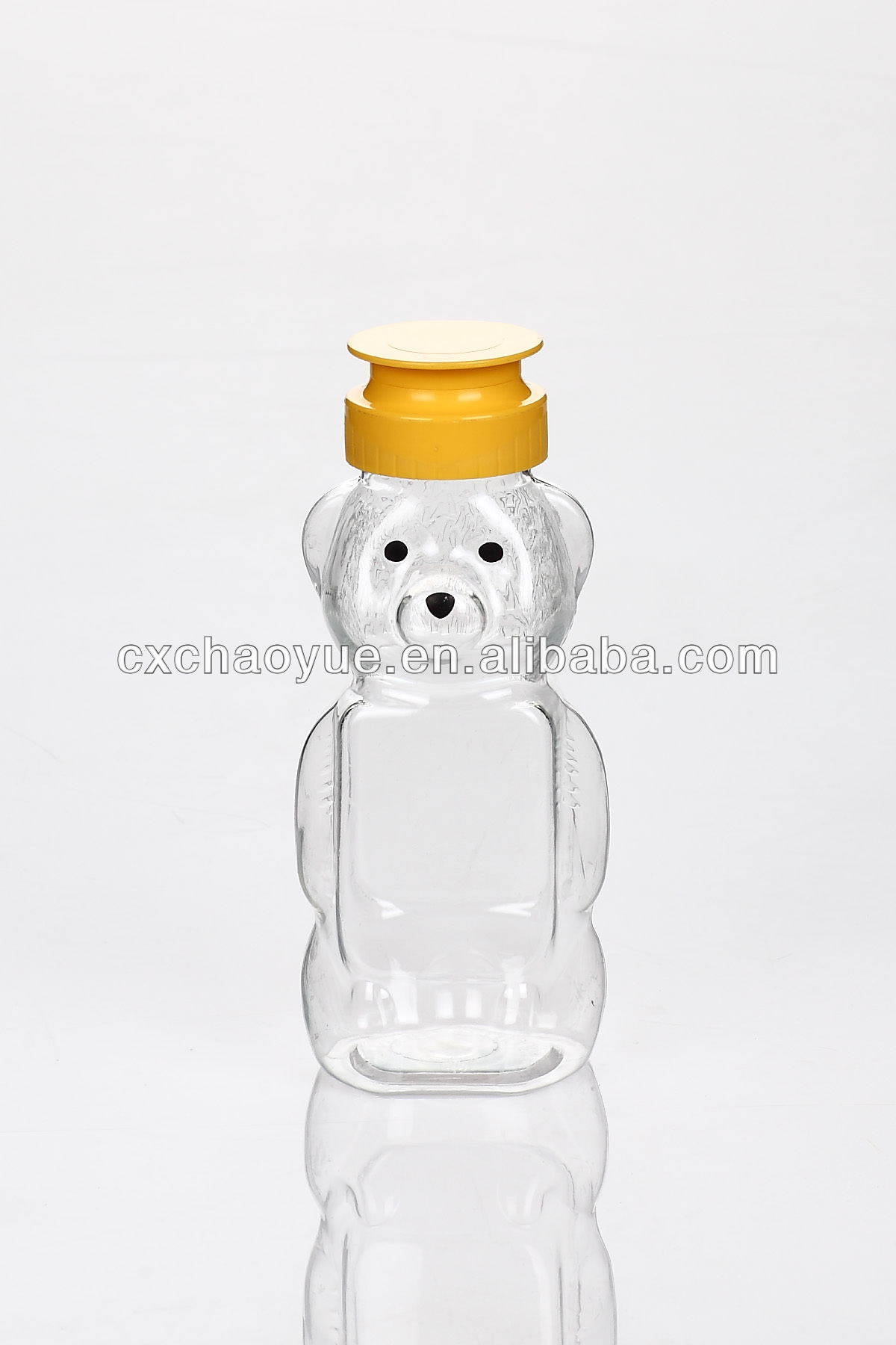 Eco-friendly plastic pet bottle can be recycled honey squeeze bottle 350g