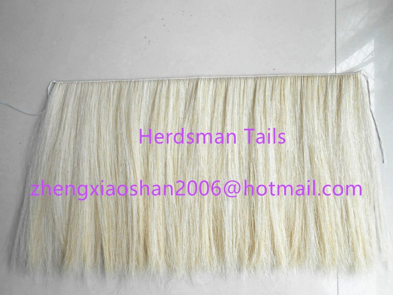 Simulated horse hair tail and mane for rocking horses
