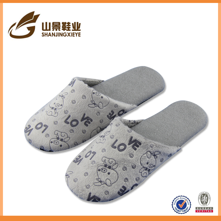 fashion nude women one size fit all slipper warm winter house shoe