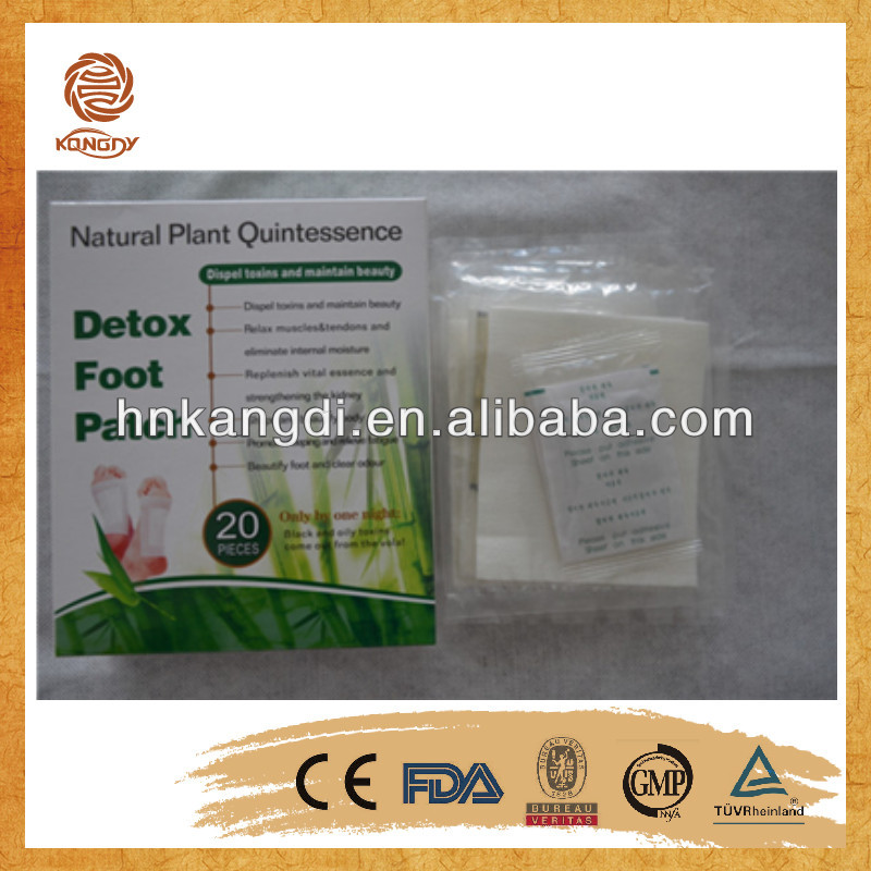 OEM bamboo crystal detox foot patch