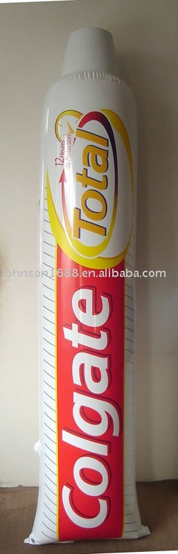 pvc inflatable toothpaste model for promotional sale