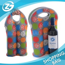 26x38cm Insulated Custom Logo Printed Wholesale Portable Two Pack Champagne Beer Cooler Bag Neoprene Wine Bottle Carrier