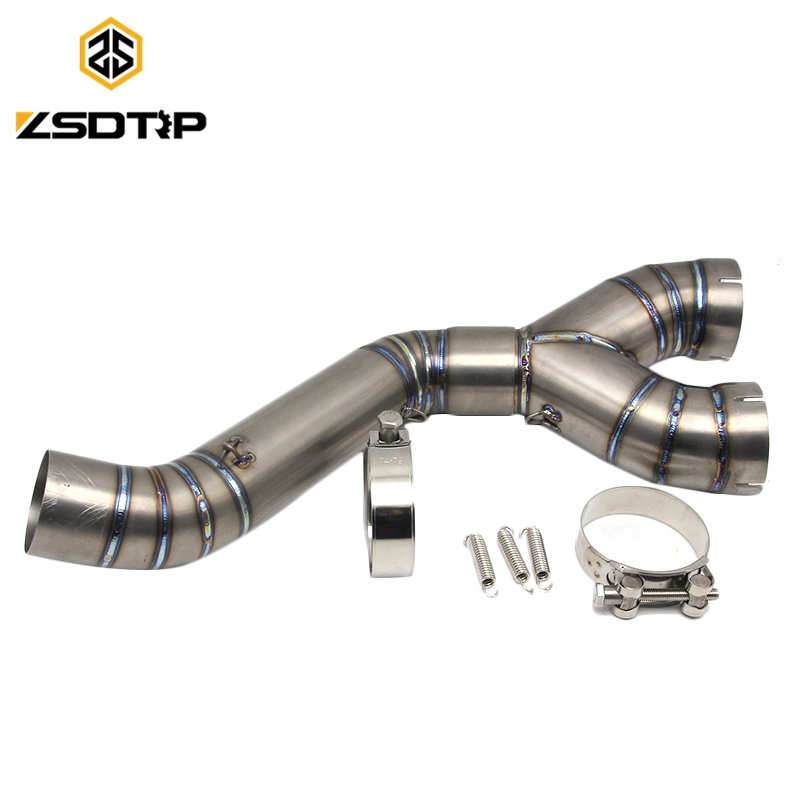 Hot selling titanium motorcycle middle <strong>exhaust</strong> pipe for S1000RR 2008-2016 muffler pipe <strong>exhaust</strong> <strong>system</strong>