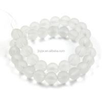Professional Manufacturer Natural Stone Beads White Glass Loose Beads Gemstone