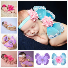 Wholesale fashion cute photo props newborn wing with headbands
