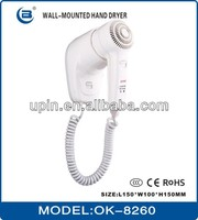 high quality low noice Hair dryer hanging ,wall-mounted or recessed hair dryer