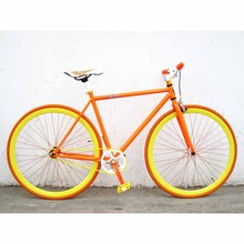 China Cheap single speed fixie chrome bicycles sepeda