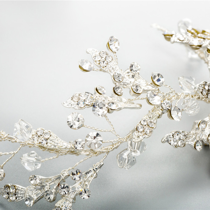 Handmade Wedding Hair Band Delicate Crystal Rhinestone Baby's Breath Vine Bridal Hair Accessory Bridal Headpiece Prom Halo