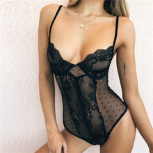 B33956A Western lady sexy hot nighty sheer lace onesie lingerie