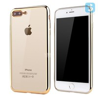 Hot Selling Wholesale Electroplate TPU soft clear transparent phone case cover for Apple iPhone 7 plus