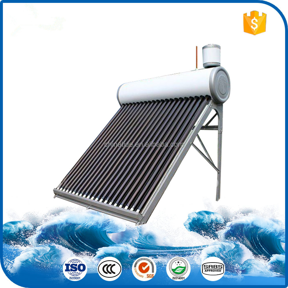 Heat pipe solar system copper coil heat exchanger solar water heater