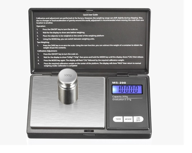 2016 MS-200 mh series diamond pocket scale