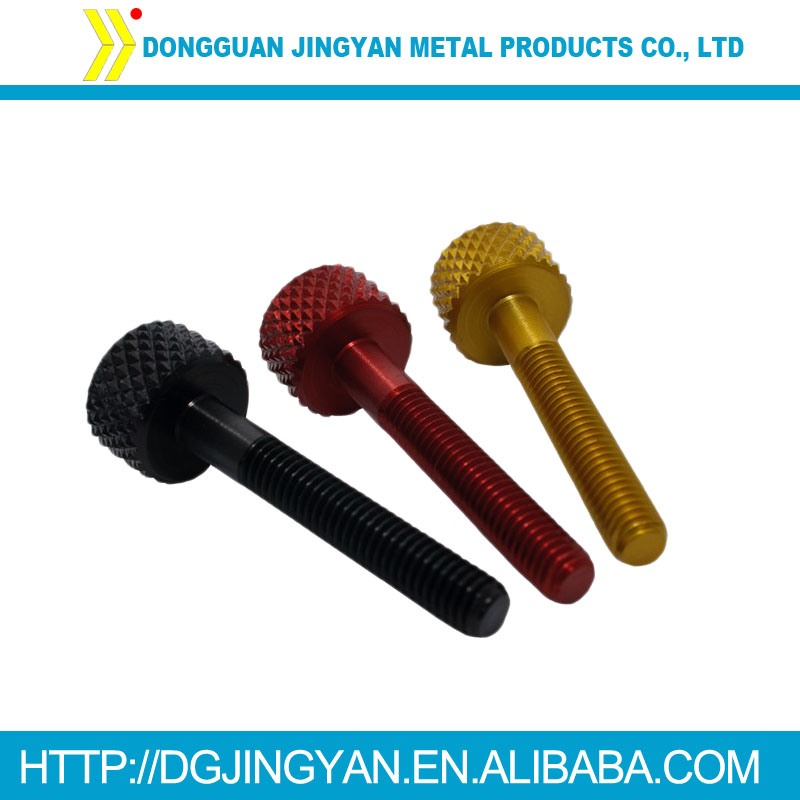 M4/M5/M6 color anodized aluminum 7075 screw and bolt for bike