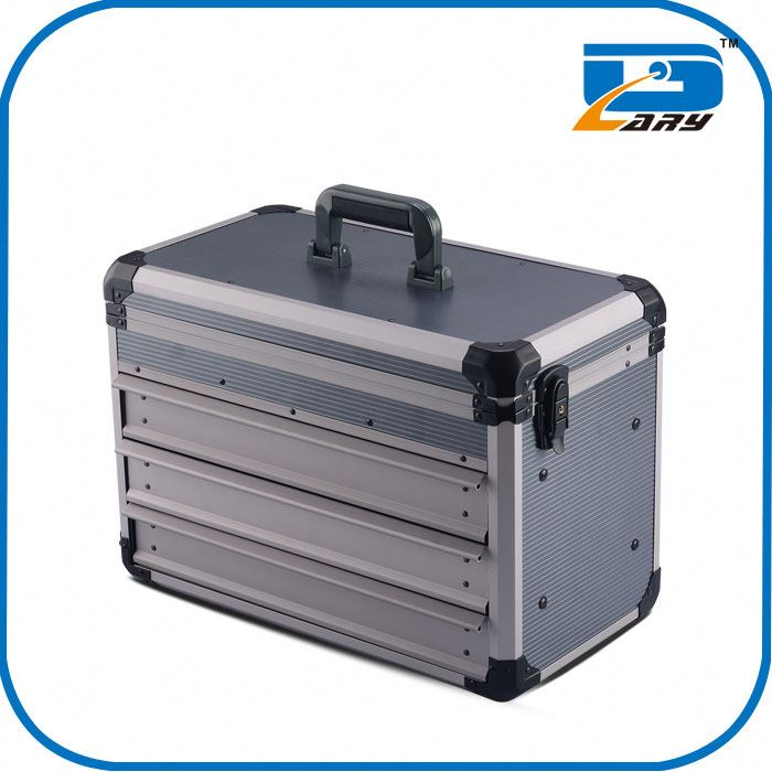 Professional handle plastic carry case
