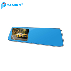 1080P 170 degree rear view camera 5.0 inch rearview car mirror dash cam with parking monitor