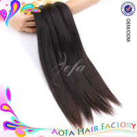 machine made weft natural black color 5a virgin hair pieces for top of head