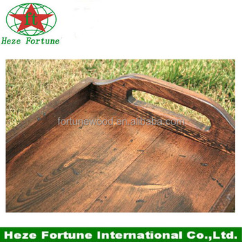 promotional good quality wooden serving tray