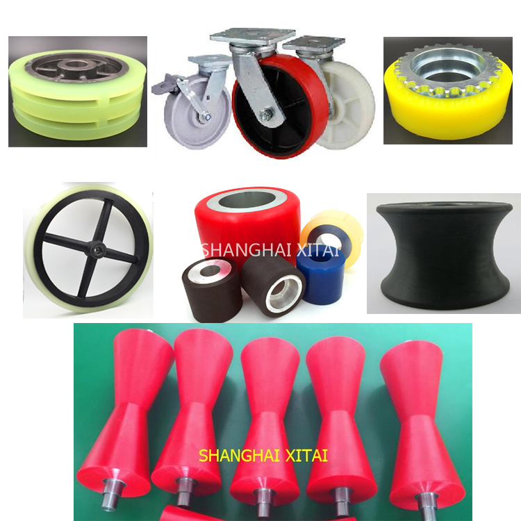 Custom polyurethane wheel parking equipment