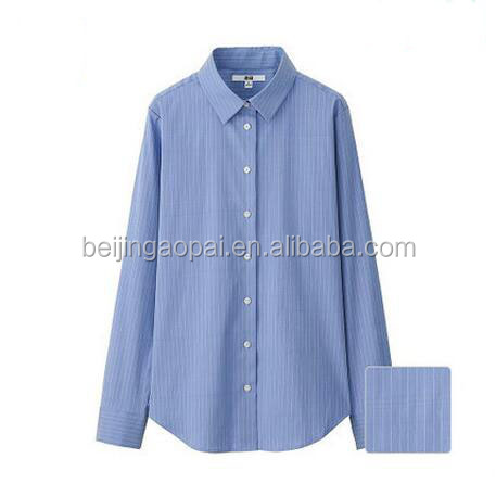 2016 Latest fashion free available sizes woven loose pant formal shirt for girls