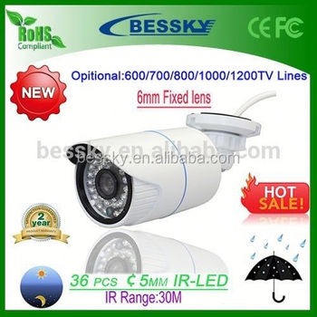 2015 New Product 1200TVL 6mm Lens 30M IR Range CCTV Camera cctv switch(IMX138+FH8520)